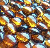 Creative Stuff Glass - 5 LB Amber - Glass Gems - Vase Fillers
