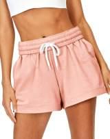 AUTOMET Womens Shorts Casual Summer Drawstring Comfy Sweat Shorts Elastic High Waist Running Shorts with Pockets