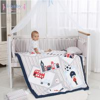 i-baby 9 Piece Nursery Crib Bedding Set for Newborn Baby Infant Crib Sheet Duvet Pillow Bumper Cot and 100% Cotton Printed Cover (British Time)