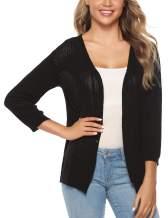 iClosam Women 3/4 Sleeve Bolero Shrug Long Sleeve Button Down Knit Cardigan Sweater