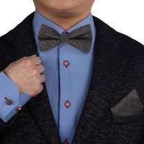 Epoint Men's Fashion Valentines Patterned Silk Pre-tied Bowtie Cufflink Hanky Set