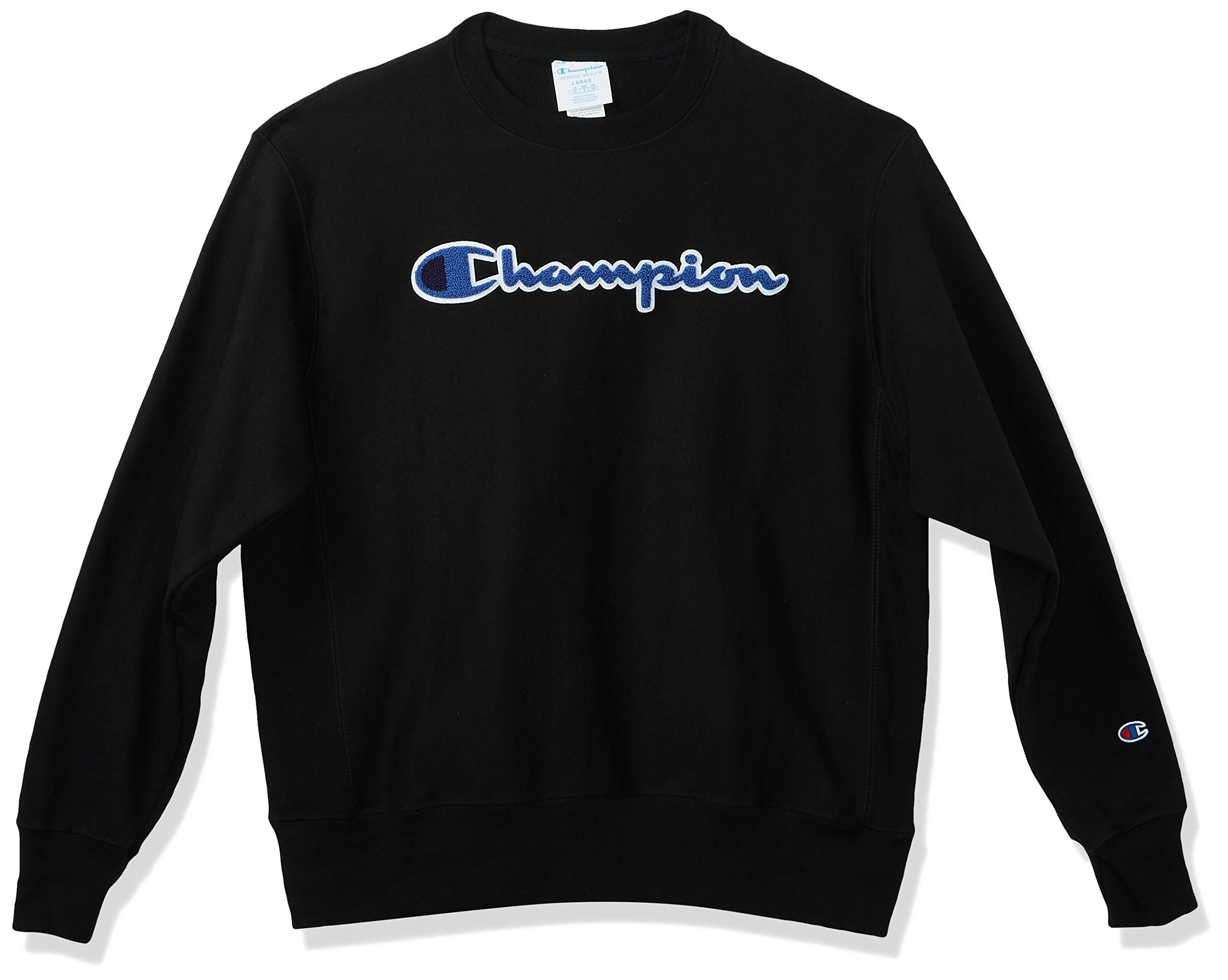 Champion LIFE Men's Reverse Weave Sweatshirt, Black 2, Medium