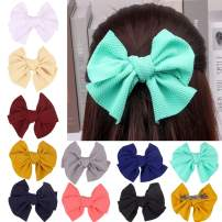 XIMA 10pcs Bows Woman Barrettes Fabric Hair Bows French Clips for Girls Hair Accessories