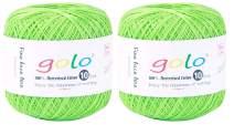 Crochet Thread Yarn Size 10 for Hand Knitting Crochet (2-Pack) Crochet Yarn for Knitting (Grass Green)