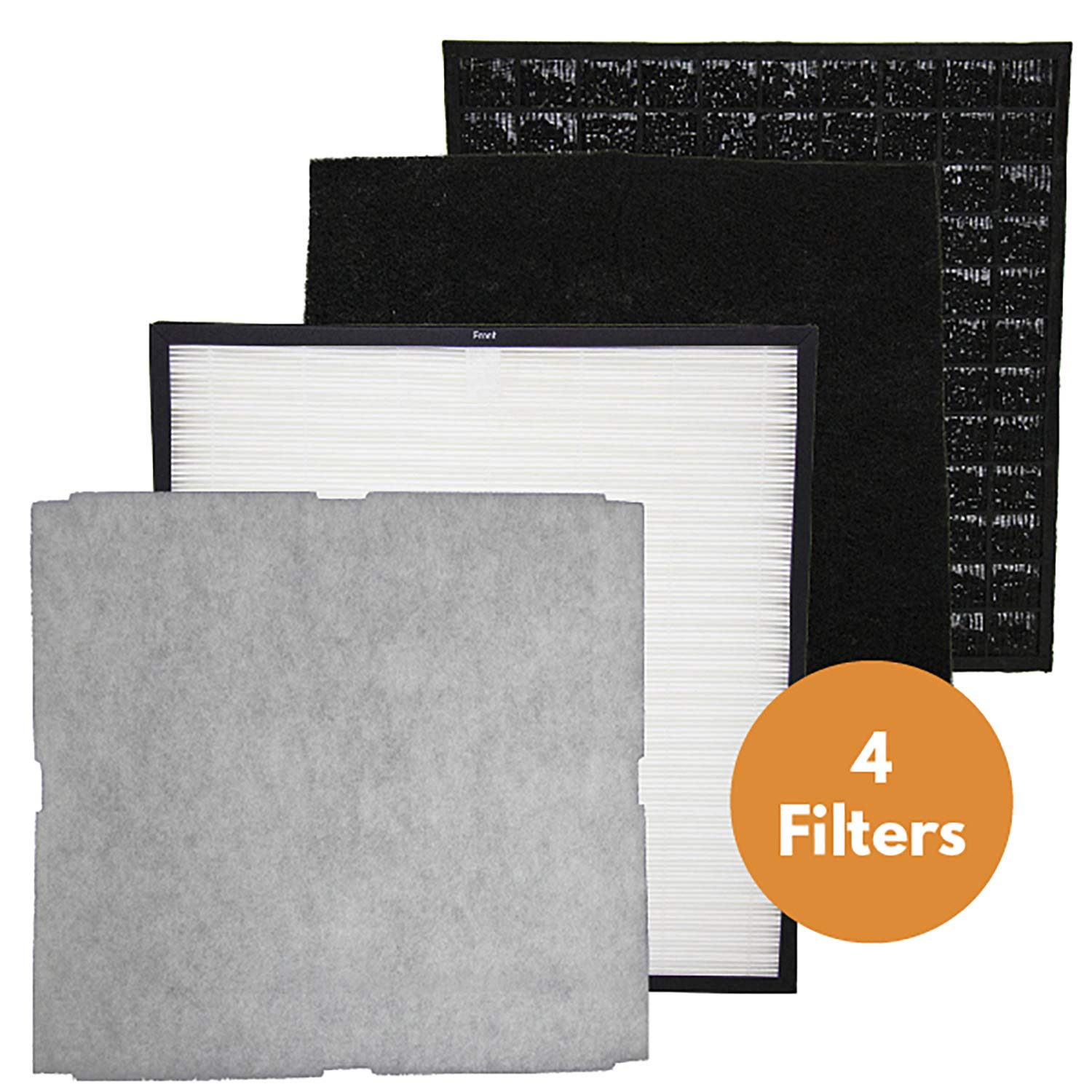 Replacement Compatible with Rabbit Air MinusA2 Filter Replacement Kit, Odor Remover