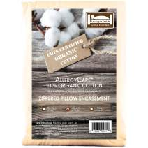 BARGOOSE HOME TEXTILES, INC. AllergyCare Zippered Organic Cotton Pillow Cover, Queen, Natural