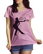 LeRage This Is America Shirt Music Tee Gambino Scoop Neck Tee Pink WOMEN'S