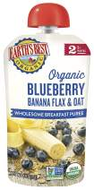 Earth's Best Organic Stage 2 Baby Food, Banana Blueberry Breakfast, 4 oz. Pouch (Pack of 12)