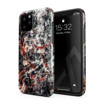 BURGA Phone Case Compatible with iPhone 11 PRO MAX - Volcano Island Lava Fire Black Marble Cute Case for Woman Heavy Duty Shockproof Dual Layer Hard Shell + Silicone Protective Cover