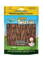 Emerald Pet - Dog Chews, Chew Treats, Rawhide Free, All-Natural Chew Sticks, Lasting Dog Treat, 100% Digestible, Grain-Free, Gluten-Free (Twizzies, Size 6,)