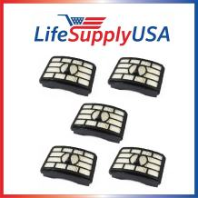 LifeSupplyUSA 5 Pack HEPA Filters Compatible with Shark NV500 Rotator Pro Lift-Away Vacuum Cleaners, Part XFH500