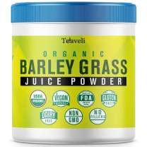 Organic Barley Grass Juice Powder– Delicious Super Greens Powder, Barley Grass Juice Extract & Green Superfood with Chlorophyll & Enzymes– 8 oz of Barley Grass Powder- Supports Healthy Immune System