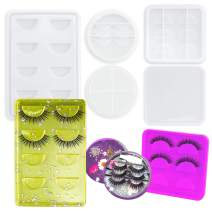 Lanstics 3 Styles Silicone Resin Eyelash Holder Mold Resin Tray Molds for DIY Eyelash Tray False Lash Storage Boxes Crafts Making Resin Molds