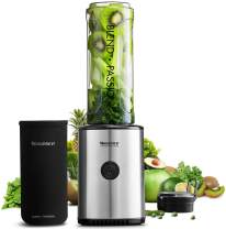 Smoothie Blender, 30000 RPM/Min Personal Blender with 4 Different Edges Stainless Steel, BPA-Free Tritan Travel Cups with Protective Sleeve, 300W, Willsence