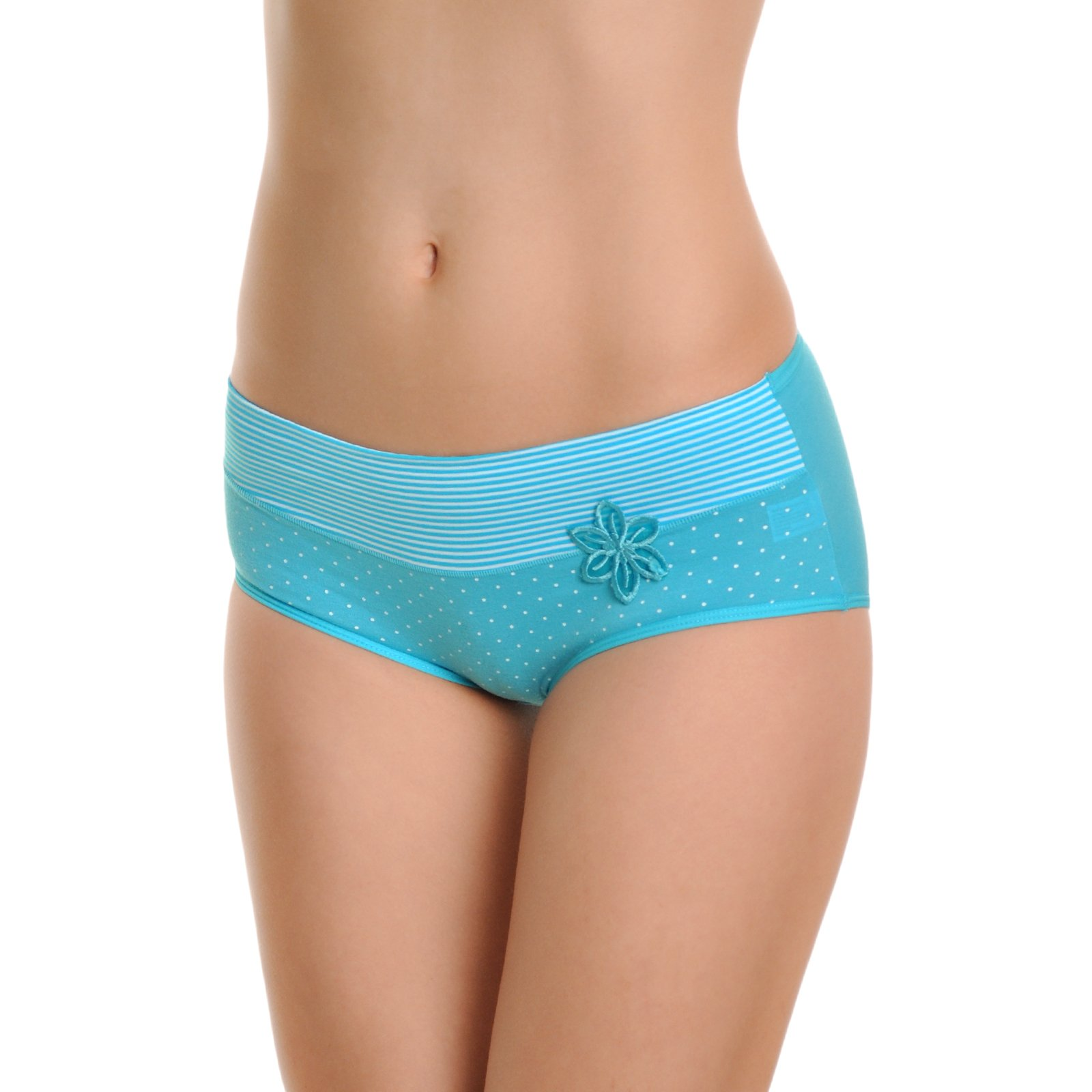 Angelina Women's Cotton Spandex Hiphuggers Panties (12-Pack)