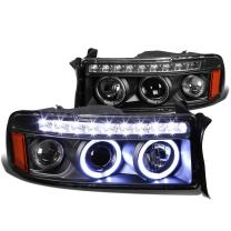 DNA MOTORING HL-HPL-LED-DR94-1PC-BK-AM Headlight Assembly, Driver and Passenger Side,Black / Amber