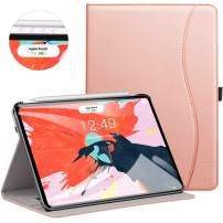 Ztotop for iPad Pro 12.9 Case 2018, Leather Folio Stand Case Smart Cover for 2018 iPad Pro 12.9-inch 3rd Generation (Supports iPad Pencil Charging) with Auto Sleep/Wake Strap Pocket - Rose Gold