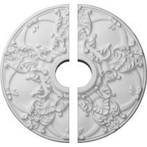"""Ekena Millwork CM18NO2 Norwich Ceiling Medallion, 18""""OD x 3 1/2""""ID x 1 3/8""""P (Fits Canopies up to 4 1/2""""), Factory Primed"""