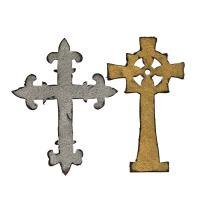 Sizzix 658245 Bigz Die Ornate Crosses by Tim Holtz, Multicolor