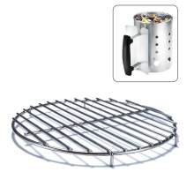 Chimney-Mate Charcoal Starter Grilling Grate   Sous Vide Searing Accessory   Turn Your Charcoal Chimney Into A Portable Grill   Fits On Top Of Most 7.5 Inch Chimneys   Portable Camping Grill Grate