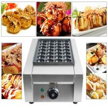 110V Commercial Takoyaki Maker Japanese Octopus Fish Ball 28Pcs Cake Machine(US Warehouse Delivery)