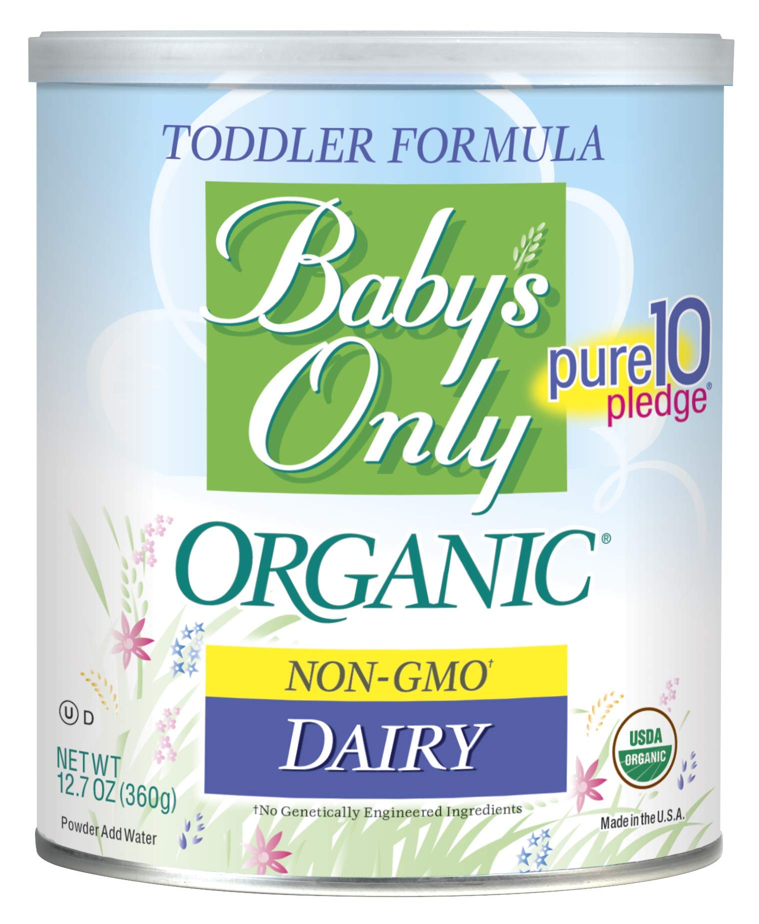 Baby's Only Organic Dairy Toddler Formula, 12.7 Oz (Pack of 6)   Non GMO   USDA Organic   Clean Label Project Verified