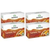 Swanson Turmeric Tea 20 Bag(S) 4 Pack