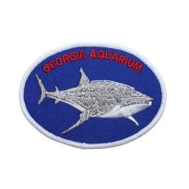 Georgia Aquarium Shark Patch Marine Travel Badge Embroidered Iron On Applique