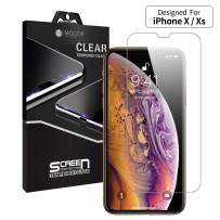 """MOCOLL Glass Screen Protector for iPhone X/XS/11 Pro, 2.5D Ultra Slim 9H Full Coverage Tempered HD Clear Protective Film for iPhone X/XS/11 Pro 5.8"""""""