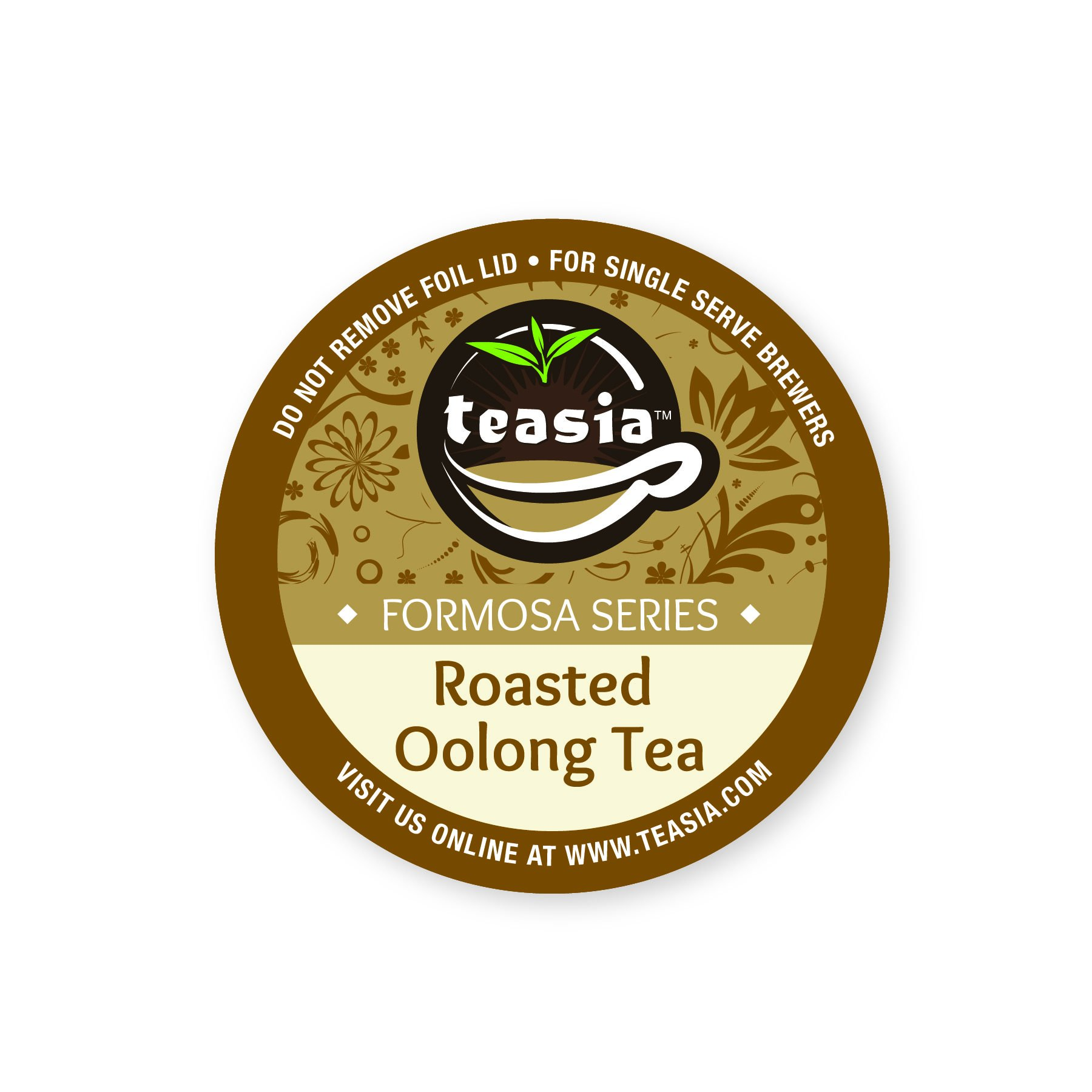 Teasia Tea Pods, Roasted Oolong (36-count), Formosa Series, GMO-free Single Serving Capsules Compatible with Keurig 2.0 Brewers