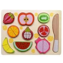 GYBBER&MUMU Play Food Set 100% Wood Play Kitchen Set Pretend Food Playset Toys