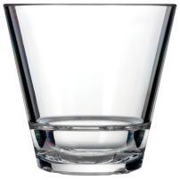 Drinique CAL-RK-CLR-4 Caliber Rocks Unbreakable Tritan Whiskey Glasses, 9.5 oz. (Set of 4), Clear