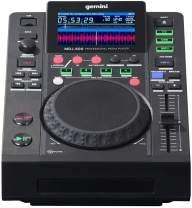 "Gemini MDJ Series MDJ-600 Professional Audio DJ Media Player with 4.3-Inch Full Color Display Screen, 5"" Jog Wheel, and Programmable Hot Cues"