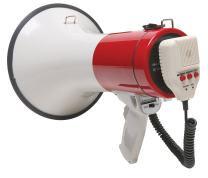 Califone PA25R Megaphone, 25 Watts Power, 1,250 feet Effective Distance, Up to 10 seconds recording time, Rugged ABS plastic for durability, Shoulder strap clips (strap included)