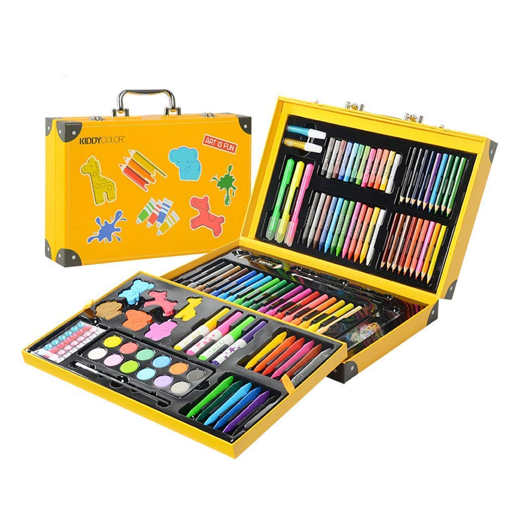 KIDDYCOLOR Deluxe Art Set for Kids 159 Piece with DIY Suitcase,Colored Pencils Crayons,Painting
