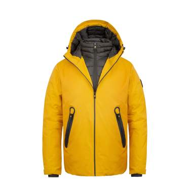 CAMEL Mens Lightweight Rain Jacket Waterproof Raincoat Windbreaker Hooded Active Outdoor Shell Jacket for Hiking Work