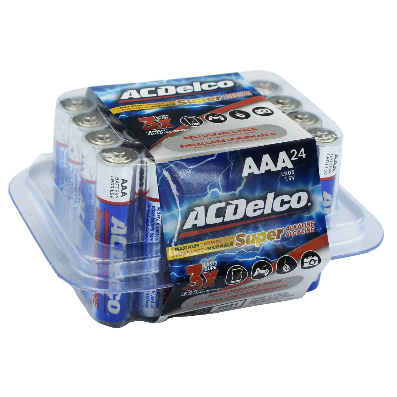 ACDelco AAA Batteries, Alkaline Battery, 24 Count
