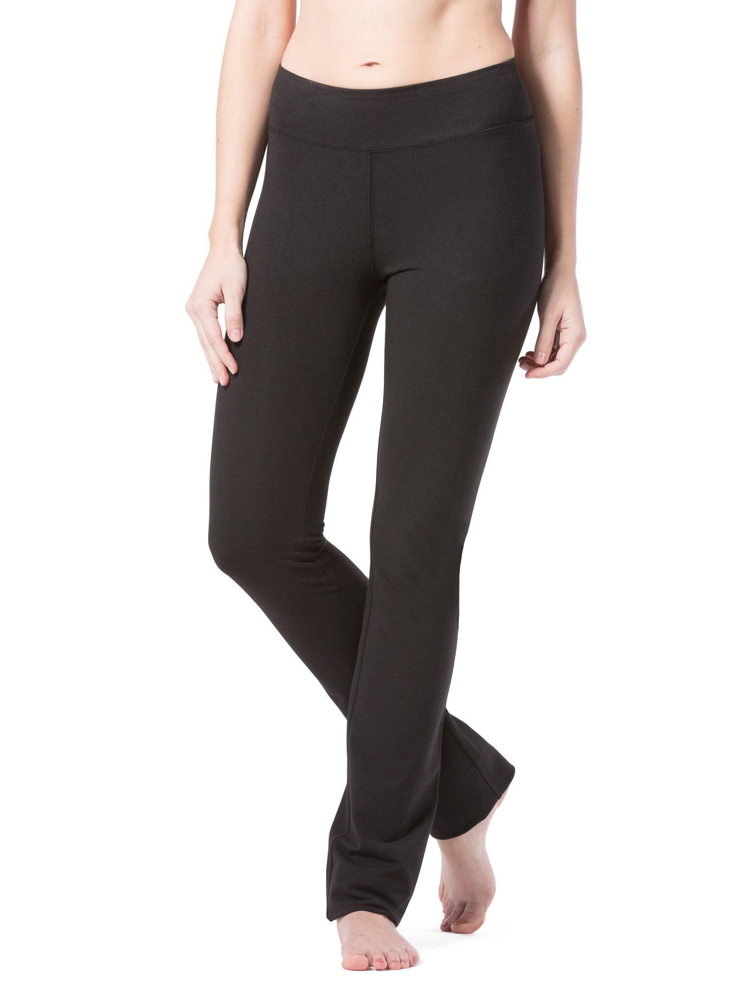 Fishers Finery Women's Ecofabric Straight Leg Yoga Pant with Back Pockets