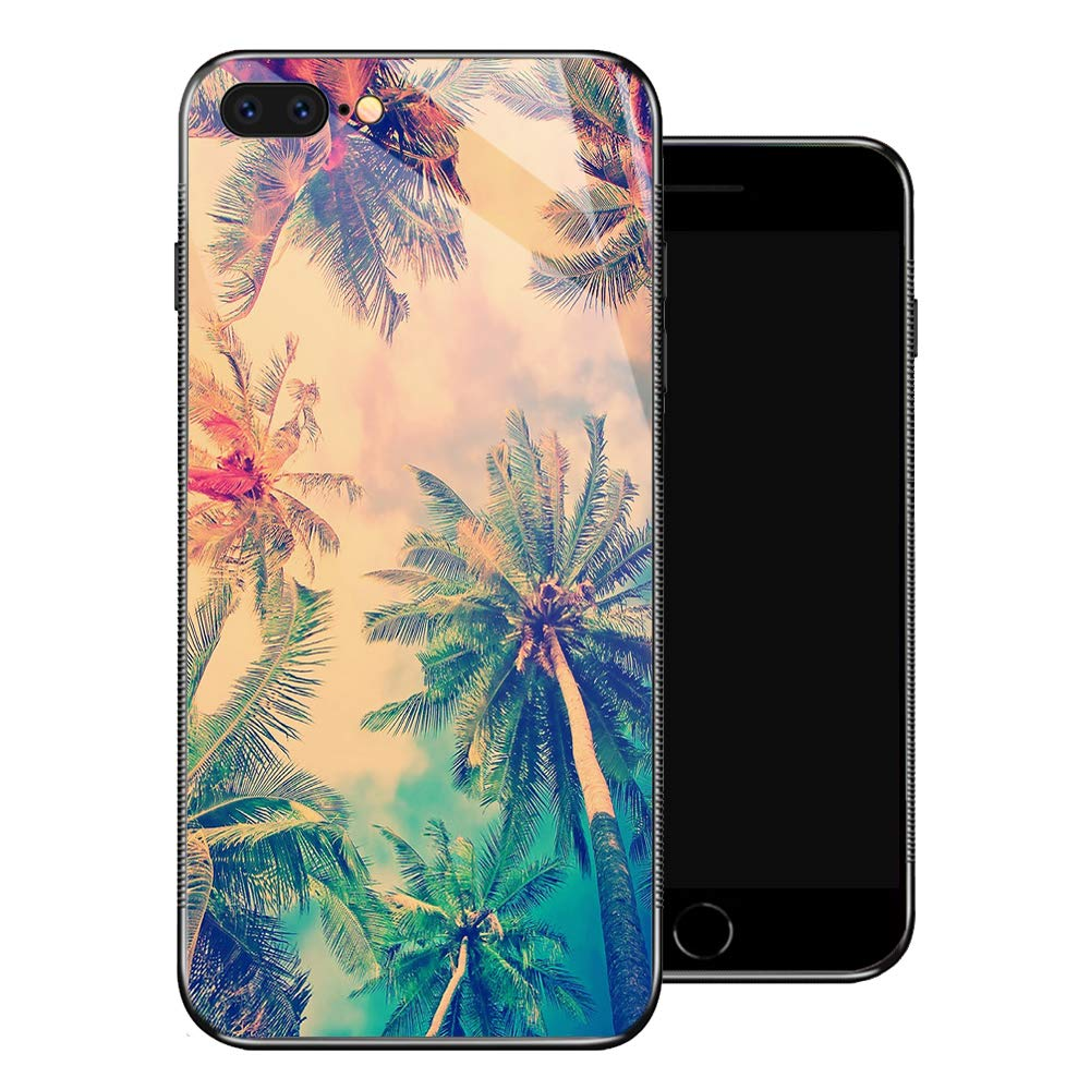 iPhone 8 Case,Color Coconut Trees iPhone 7 Cases for Girls,Non-Slip Pattern Design Back Cover [Shock Absorption] Soft TPU Bumper Frame Support Case for iPhone 7/8 4.7-inch Sky Magnificent Sight