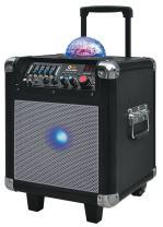 QFX PBX507100SL Portable Battery Powered Bluetooth Mini Party Speaker, Silver (PBX-507100BTSL)