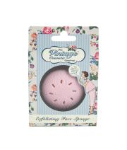 The Vintage Cosmetic Company   Exfoliating Face Sponge   For Shower, Bath, Facials, Spa   Made w/Soft Silicone w/Tiny Flexible Bristles   Use w/Soap Gel, Wash  Remove Dead Skin Cells   Pink