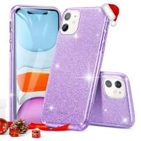 """ESR Glitter Case Compatible for iPhone 11 Case, Glitter Sparkle Bling Case [Three Layer] for Women [Supports Wireless Charging] for iPhone 11 6.1"""" (2019), Purple"""