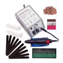 Mpnetdeal Electric Nail Drill Machine Nail File e File Drill Set Kit for Acrylic Nails Gel Nail Glazing Nail Drill Nail Art Polisher Sets Toe Nail Drill Grinder (Gray)