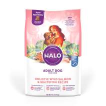 Halo Natural Dry Dog Food, Wild Salmon & Whitefish Recipe