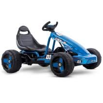 Huffy Flat Kart Battery-Powered Ride On Kid Car, Blue
