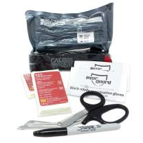 Ever Ready First Aid Bleeding Control - Basic Kit with CAT Tourniquet, Hemostatic Bandage, Compressed Gauze Dressing, Stainless Steel Trauma Shears, Gloves, Permanent Marker