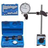 """LAIWOO Professional Dial Indicator with Magnetic Base Holder 0-1.0"""" Tester Gage Gauge Fine Adjustable Long Arm 0.001"""" Precision"""