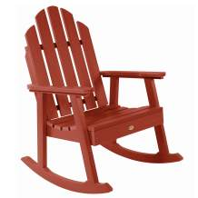 highwood AD-RKCH3-RED Classic Westport Garden Rocking Chair, Rustic Red