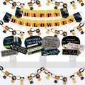 Big Dot of Happiness Trick or Treat - Banner and Photo Booth Decorations - Halloween Party Supplies Kit - Doterrific Bundle