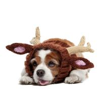 Zoo Snoods Reindeer Dog Costume - Neck and Ear Warmer Snood for Pets